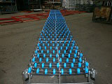 Used Flexiveyor extendable skatewheel conveyor