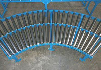 gravity curved conveyor rollers
