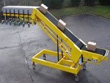 belt conveyor unloader/loader with gravity extension